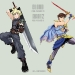 Dissidia Collab piece with Cloud and Bartz