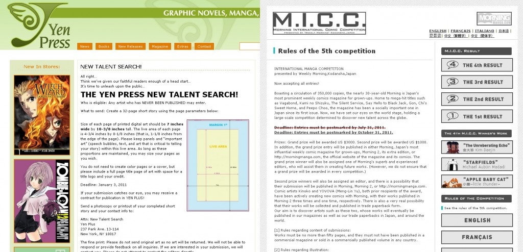Manga Competitions