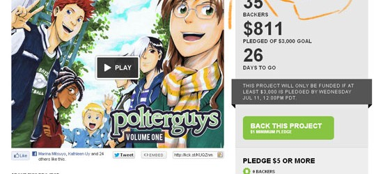 Polterguys Vol. 1's Kickstarter Campaign in progress