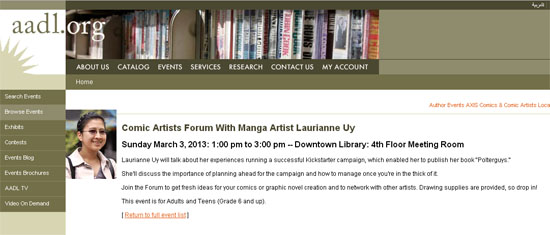 Comics Art Forum at the Ann Arbor Downtown Library