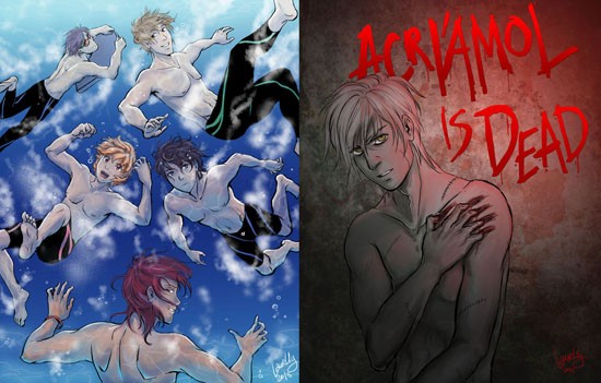 Iwatobi Swimming Club and Ysef the Zombie Mage